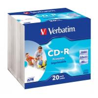 Verbatim CD: CD-R AZO Wide Inkjet Printable