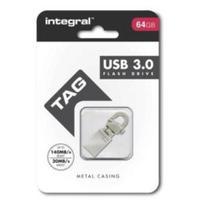 Integral USB flash drive: USB Tag 3.0 - Roestvrijstaal
