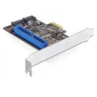 DeLOCK interfaceadapter: PCI Express Card/SATA/IDE - Zwart, Zilver