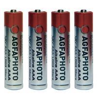 AgfaPhoto batterij: 4x AAA, Alkaline, 1.5V, LR03 - Grijs, Rood