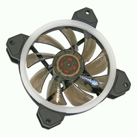 Cooltek Silent Fan 120 RGB Hardware koeling - Zwart, Wit