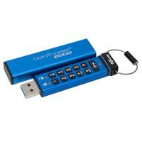 Kingston Technology USB flash drive: DataTraveler 2000 16GB - Blauw