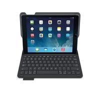 Logitech mobile device keyboard: Zwarte Type+ toetsenbord-case voor iPad Air