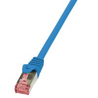 LogiLink netwerkkabel: 0.25m Cat.6 S/FTP - Blauw