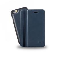 Azuri mobile phone case: Luxe wallet met verwijderbare magnetische cover voor iPhone 6 (blauw)