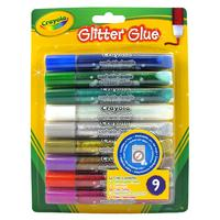 Crayola glitter: 9 Glitterlijmtubes - Multi kleuren