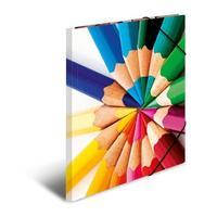 HERMA map: Elasticated folder A4 cardboard pencils - Multi kleuren