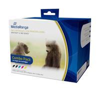 MediaRange inktcartridge: ink cartridges, for Brother® LC-985 series, Set 5 - Zwart, Cyaan, Magenta, Geel