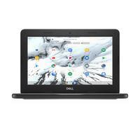 "DELL Chromebook 3100 11,6"" Celeron 4GB RAM 32GB eMMC Touch Laptop - Zwart, Grijs"