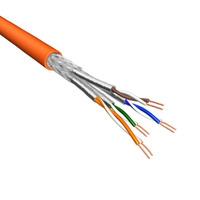 Eeconn netwerkkabel: Cat.6 S/FTP Kabel, Soepel, AWG26, LSZH, Oranje, 500m