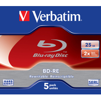 Verbatim BD: BD-RE SL 25GB 2x 5 Pack Jewel Case