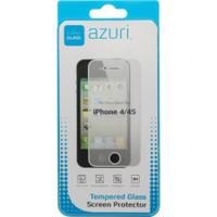 Azuri screen protector: Screen protector Tempered Glass voor Apple iPhone 4 / 4S - Transparant