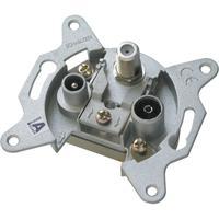Schwaiger wandcontactdoos: RDS812 011 - Aluminium