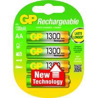 GP Batteries batterij: NiMH rechargeable batteries AA - Multi kleuren