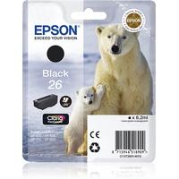 Epson Singlepack Black 26 Claria Premium Ink (C13T26014020)
