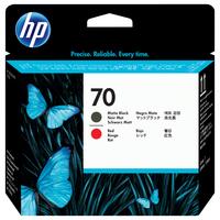 HP printkop: 70 matzwarte/chromatisch rode DesignJet printkop - Mat Zwart, Rood