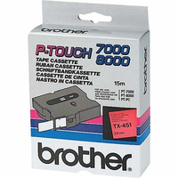 Brother labelprinter tape: Labelling Tape 24mm - Zwart