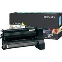 Lexmark cartridge: C772, X772e 15K gele retourprogr. printcartr. - Geel