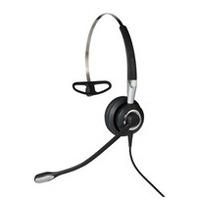 Jabra headset: Biz 2400 II QD Mono NC 3-in-1 Wideband Balanced - Zwart, Zilver