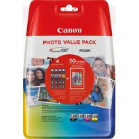 Canon inktcartridge: CLI-526 C/M/Y/BK - Zwart, Cyaan, Geel, Magenta