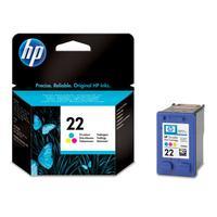 HP inktcartridge: 22 originele drie-kleuren inktcartridge - Cyaan, Magenta, Geel