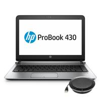HP laptop: ProBook 430 G3 + speakerphone (W4N73ET + K7V16AA) - Zilver