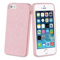 Muvit mobile phone case: Glitter case, Apple iPhone 5s/se, 40g, pink - Roze