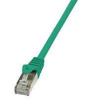 LogiLink netwerkkabel: 0.25m Cat.5e SF/UTP RJ45 - Groen