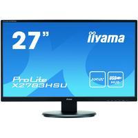 "Iiyama monitor: ProLite High-end 27"" LCD-monitor met AMVA+ Panel-technologie - Zwart"