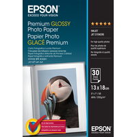 Epson Premium Glossy Photo Paper - 13x18cm - 30 Sheets Fotopapier - Wit