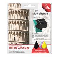 MediaRange inktcartridge: 1x BK 10ml & 1x CMY 13.5ml - Zwart, Cyaan, Magenta, Geel