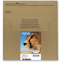 Epson inktcartridge: Multipack 4-colours T0715, 23.9 ml - Zwart, Cyaan, Magenta, Geel