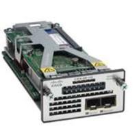 Cisco netwerkkaart: Two 10GbE SFP+ ports service module for Catalyst 3560-X and 3750-X (spare) - Zwart, Zilver, Wit