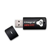 Integral USB flash drive: 8GB Crypto Drive - Zwart