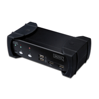 Digitus KVM switch: DVI-Audio-USB, 2-port - Zwart