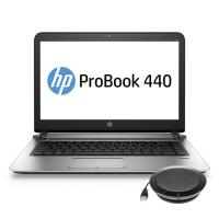 HP laptop: ProBook 440 G3 + speakerphone (W4N88ET + K7V16AA) - Zilver