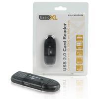 BasicXL SD / SDHC / MMC USB 2.0 kaartlezer geheugenkaartlezer - Zwart
