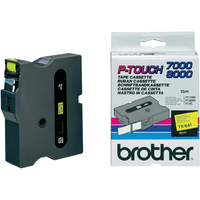 Brother labelprinter tape: Gelamineerd tape - 18mm, zwart/geel