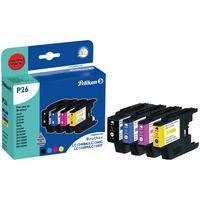 Pelikan inktcartridge: P26 - Zwart, Cyaan, Magenta, Geel