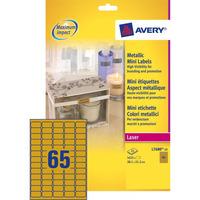 Avery 38.1 x 21.2 mm, 1625 pcs, goud Etiket