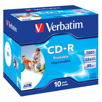 Verbatim CD: CD-R AZO Wide Inkjet Printable