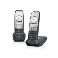 Gigaset dect telefoon: A415 Duo - Zwart, Zilver