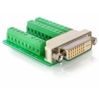 DeLOCK kabel adapter: Adapter DVI 24 female > Terminal Block 27pin - Groen