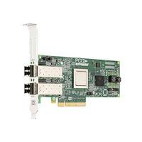 DELL netwerkkaart: Emulex LPe12002 Dual Channel 8GB PCIe Host Bus Adapter laag profile - Groen