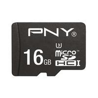 PNY flashgeheugen: MicroSDHC Turbo Performance 16GB - Zwart