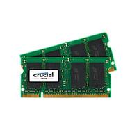 Crucial RAM-geheugen: 2GB DDR2 SODIMM - Groen