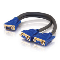 C2G Ultima HD15 Male to Dual HD15 Female SXGA Monitor Y-Cable