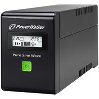 PowerWalker UPS: VI 600 SW - Zwart
