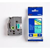 Brother labelprinter tape: P-TOUCH TZ labeltape Zwart op groen TZ-741 18 mm