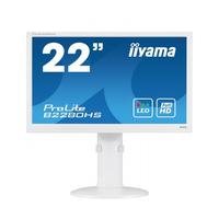 "Iiyama monitor: ProLite 21.5"" Full HD Monitor met LED-backlights en Pivot functie - Wit"